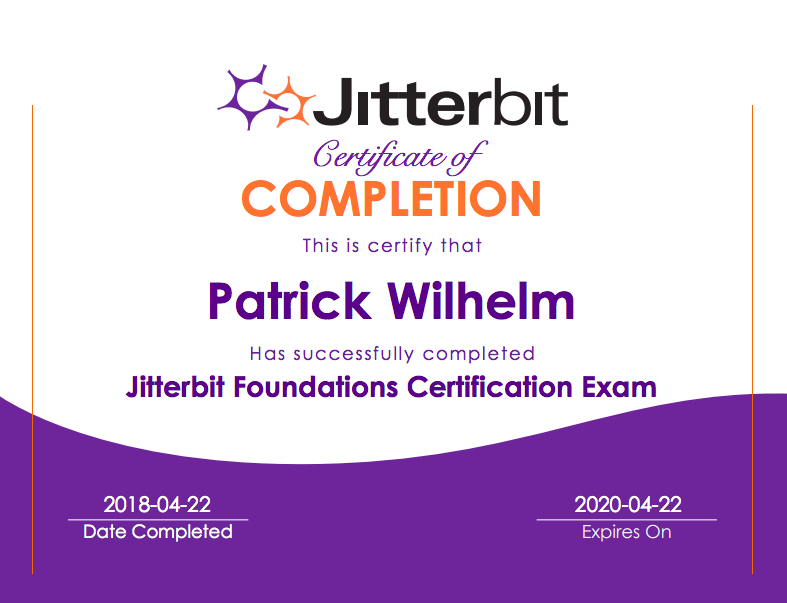 Jitterbit Foundations Certification